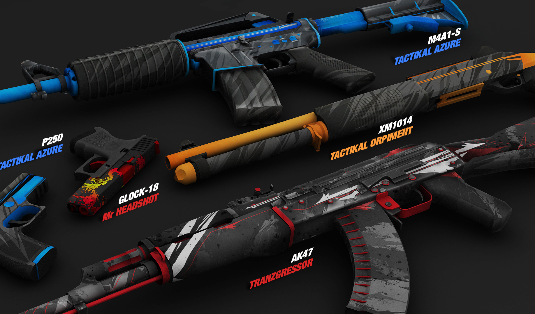 Coolest cs go weapon skins amd setting for csgo